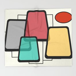 Mid-Century Modern Art Landscape 1.1 Throw Blanket