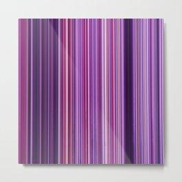 Pink Purple Stripes Metal Print