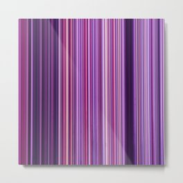 Pink Purple Stripes Metal Print