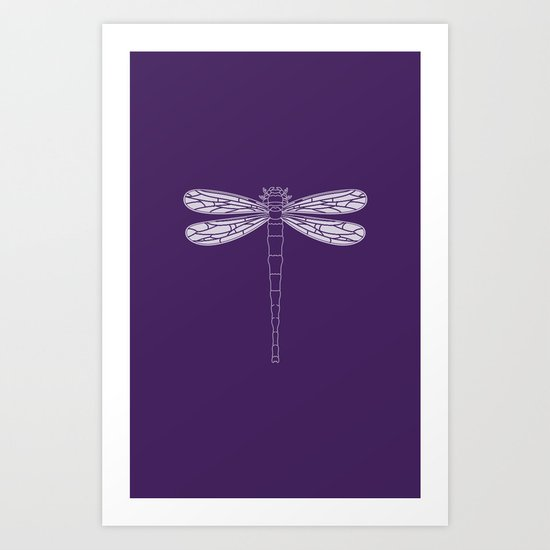 dragonfly in acai Art Print