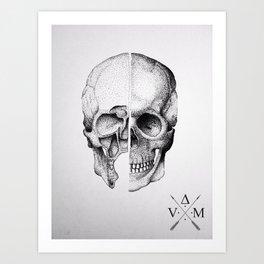 Davinci Skull Art Print