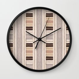 Flat Weavin 3 Wall Clock
