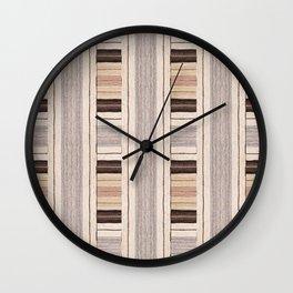 Flat Weavin 3 Wall Clock