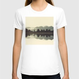 Peaceful Mountain Scene With Quiet Lake Reflections T-shirt