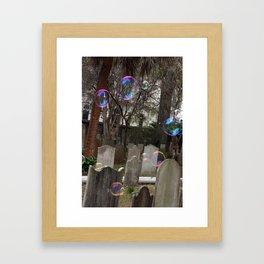 Graveyard Bubbles Framed Art Print