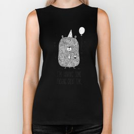 Unemotional Bear Biker Tank