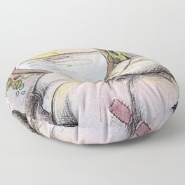 Nap Time, Illustration Floor Pillow