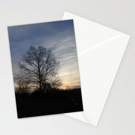 Silhouettes at Sunset Stationery Cards