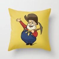 toy story Throw Pillows featuring Toy Story | Stinky Pete by Brave Tiger Designs