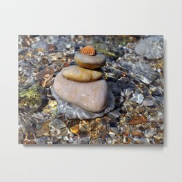 stones with shell Metal Print