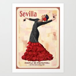 Seville April Fair Art Print
