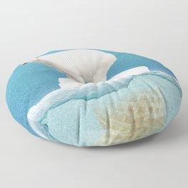 Polar ice cream cap Floor Pillow