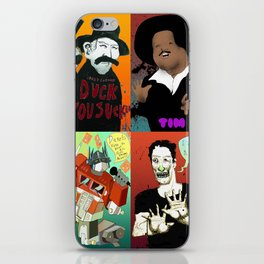 Pop mix of the some of the greats pop culture memories.  iPhone Skin