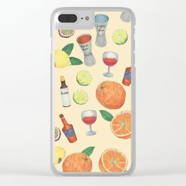 cocktail recipe pattern _ zombie Clear iPhone Case