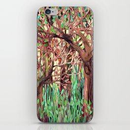 Lost in the Forest - watercolor painting collage iPhone Skin