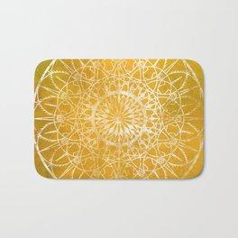 Fire Blossom - Yellow Bath Mat