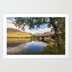 Railway Viaduct Over River Orchy Art Print