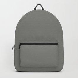 Solid Dark Battleship Gray Color Backpack