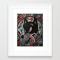ashton irwin Framed Art Prints featuring Irwin Wolf by Matt Pecson