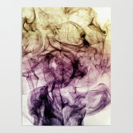 Abstract Purple Brown Smoky Dust Poster