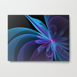 Fractal Radiant Beauty Metal Print