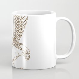 Osprey Swooping Drawing Coffee Mug