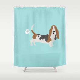 Basset Hound dog breed funny dog fart Shower Curtain