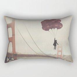 Floating over the Golden Gate Rectangular Pillow