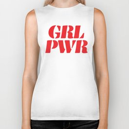 Girl Power GRL PWR Biker Tank