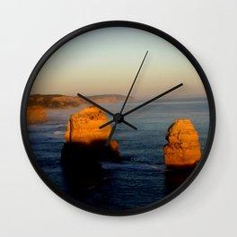 Glowing Rock Stacks Wall Clock