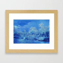 Wedgewood Blue English Garden Framed Art Print