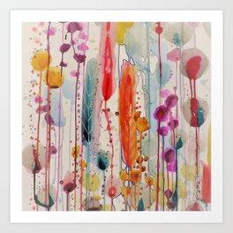 champs fleuris Art Print