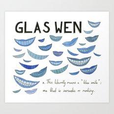 Glas Wen Art Print