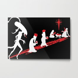 Xenomorph in the Manger Metal Print