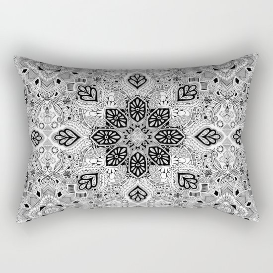 Gypsy Lace in Monochrome Rectangular Pillow