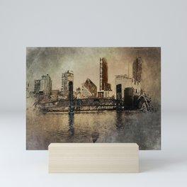 Sunset in the City Mini Art Print