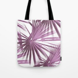 Lilac on White Tropical Vibes  Beach Palmtree Vector Tote Bag