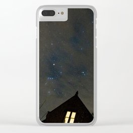 stars with clouds Clear iPhone Case
