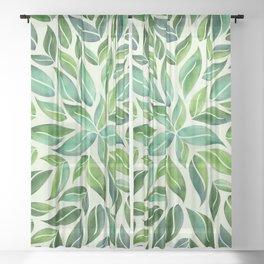 Spring Leaf Mandala Sheer Curtain