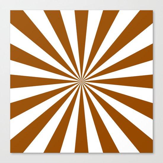 Starburst (Brown/White) Canvas Print