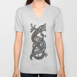Viking dragon Unisex V-Neck