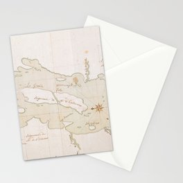 Vintage Map of Lake Champlain (1759) Stationery Cards