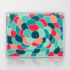 Petals (Aqua Red) Laptop & iPad Skin