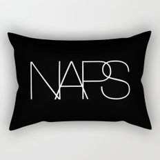 Naps Cosmetic Chic Black Typography Rectangular Pillow