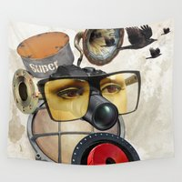 industrial Wall Tapestries featuring industrial existence by Vin Zzep