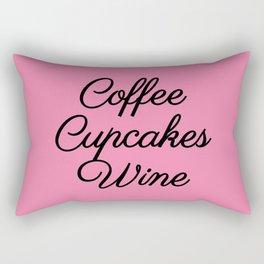 Coffee Cupcakes Wine (PINK) Rectangular Pillow