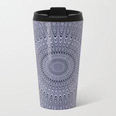 Silver mandala Metal Travel Mug