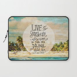 Live In The Sunshine - Photo Inspiration Laptop Sleeve