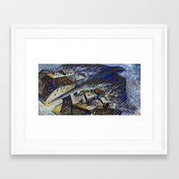 hawk Framed Art Prints featuring Hawk by Deena So'Oteh