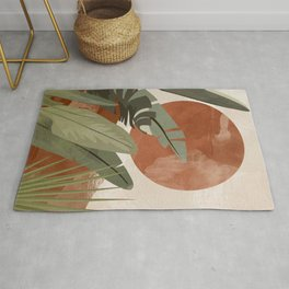 Tropical Leaf- Abstract Art 10 Rug